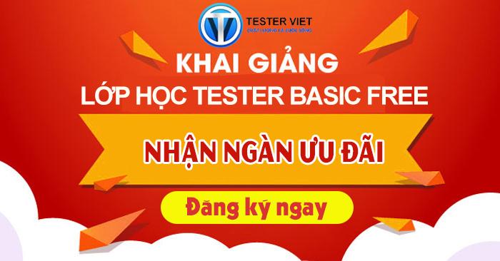 Khai giảng lớp học Tester Basic